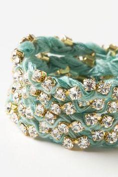 Sparkled Silk Wrap Bracelet - Anthropologie