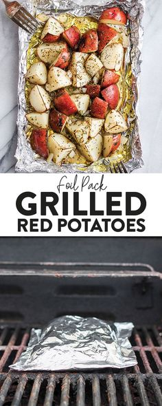 These foil pack grilled red potatoes are an easy side to add to any bbq. All you… These foil pack grilled red potatoes are on easy side to add to any bbq. All you need to do is make them in olive oil, spices, and create foil pack! Grilled Vegetable Recipes, Grilled Vegetables, Grilling Recipes, Grilled Red Potatoes, Pumpkin Jam, Red Potato Recipes, Foil Pack Dinners, Camping Meals, Camping Recipes