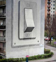 Trabalho do artista Escif nas ruas da Polônia.