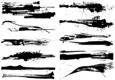Dry Grunge Paint Stroke Vector Pack - Download Free Vector Art ...