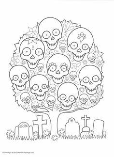 Free Día de Muertos Papel Picado Coloring Sheet {Printable