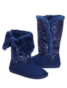 0462d3f49f6 Sequin Faux Fur Lined Boots Fur Lined Boots