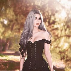 """image by Dayana Crunk 🌙 ( with caption : """"I love this beautiful from 🖤 Dark Fashion, Grunge Fashion, Gothic Fashion, Hot Goth Girls, Gothic Girls, Steam Punk, Chica Heavy Metal, Cosplay, Gothic Models"""