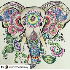 New tattoo mandala elephant colour Ideas Mandala Elephant, Elephant Art, Elephant Tattoos, Rainbow Painting, Dot Painting, Silk Painting, Coloring Book Art, Animal Coloring Pages, Mandala Drawing