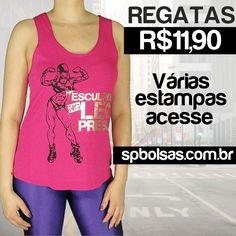 #Regatas #Femininas com preço de #atacado, mas com condições de varejo acesse: http://www.spbolsas.com.br/roupas-femininas e escolha a sua! #moda #fitness #atacado #varejo #comprar #loja #online #site #roupas #regatas #blusas #camisetas #tops #femininas #acadêmia #treino #exercícios #nopain #nogain