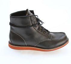 Worker boot in black by Brave GentleMan x Novacas, $250. Vegan.