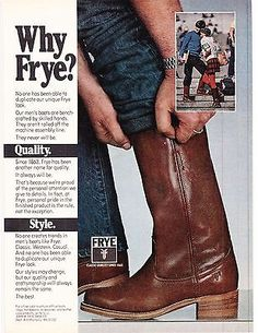 Original Print Ad-1980 WHY FRYE? No one creates trends in men's fashion like | eBay