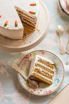 Pastel de zanahoria paso a paso - postres - Pastel de Tortilla Sweet Recipes, Cake Recipes, Moist Carrot Cakes, Rustic Cake, Pastry Cake, Gorgeous Cakes, Cake Tins, Savoury Cake, Clean Eating Snacks