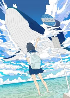 /r/Moescape is a place to post all of your favorite artworks and screen caps of cute Anime characters in their environment. Aesthetic Art, Aesthetic Anime, Manga Art, Anime Art, Anime Chibi, Desu Desu, Art Mignon, Japon Illustration, Beach Illustration