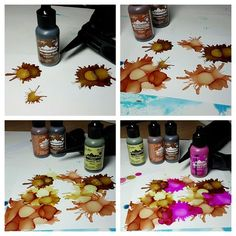 Yes! I am an Alcohol-Ink-a-Holic. For my card today I used Yupo paper & 4 Alcohol Inks, dripping 1 drop at a time of each c...