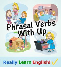 "Phrasal Verbs with ""Up"" infographic"