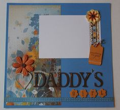 Daddy's Girl  premade photo layout to frame or by KindnessPaper, $8.00