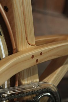 """Arnold Van Der Sman's """"SMAN Cruiser"""" – made of beech and ash and takes 80 hours of work! But what a great way to show your love for the environment."""