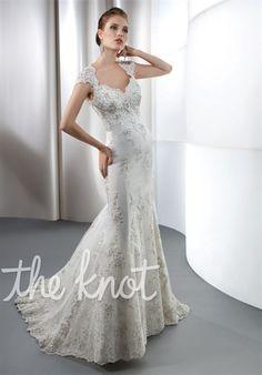 Bridal Gown Inspiration a board by www.myfauxdiamond.com #myfauxdiamond #weddings #jewelry  Demetrios 1444