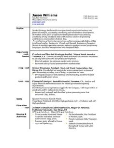 A Sample Functional Resume View More Vault Com