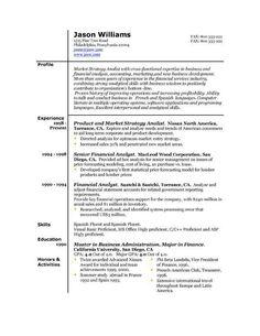best resume format 6