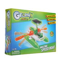 Greenex 36514 Solar Power Toy Amazing Speed Boat Science Experience Toy Sale - Banggood.com Solar Energy, Solar Power, Speed Boats, Toy Sale, Science, Toys, Children, Amazing, Fast Boats