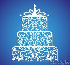 Cake white pattern vector Happy Birthday, Birthday Cake, Food Festival, White Patterns, Vector File, Silhouette Cameo, Graphic Art, Xmas, Clip Art