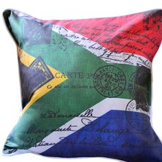 Looking for Vintage Sa Flag Cushion? Compare prices for Vintage Sa Flag Cushion, find the best offer in hundreds of online stores! Things To Buy, Stuff To Buy, Decoration, The Past, Flag, Presents, Cushions, African, Cushion Pillow