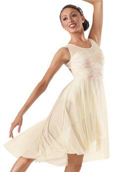 For Lyrical 10-12: Weissman™ | Lace Mesh High-Low Dress