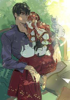 Anime Couples Drawings, Anime Couples Manga, Chica Anime Manga, Couple Manga, Anime Love Couple, Anime Comics, Cute Anime Character, Character Art, Beauté Blonde
