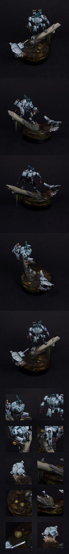 40k - Tau XV8-11b Polypheme Crisis Battlesuit by itshammertime!