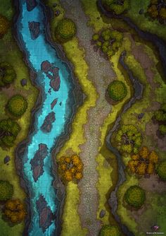Fantasy Map Making, Fantasy World Map, Fantasy House, Dungeons And Dragons Game, Dungeons And Dragons Homebrew, Forest Map, Forest River, Dnd World Map, Pathfinder Maps