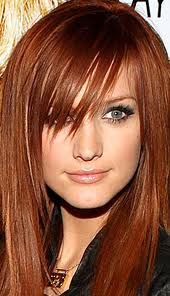 Great copper color on Ashley Simpson