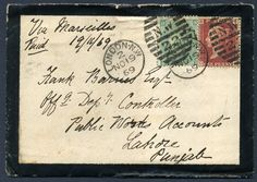 314812 - Lot 355 - Great Britain - Covers - 1869 GB Mourning cover bearing 1d red Plate 119, 1/-… / MAD on Collections - Browse and find over 10,000 categories of collectables from around the world - antiques, stamps, coins, memorabilia, art, bottles, jewellery, furniture, medals, toys and more at madoncollections.com. Free to view - Free to Register - Visit today. #Stamps #PostalHistory #MADonCollections #MADonC