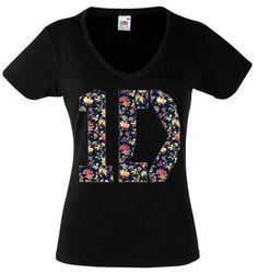 One Direction Shirt Logo 2 Flora Flower 1D Boy by RollingTheRock, $14.45