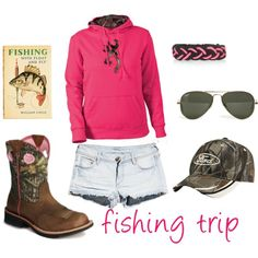 I love love LOVE!!! EVERYTHING about this entire outfit; the Browning hoodie, pink & camo, the boots.....PLUS the fact I love to fish! (The hat needs to have a Chevy emblem on it tho...if you ask me) ♥