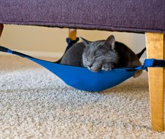Okay, I don't have a cat, but lots of my friends do, and this is an awesome idea!  Give your cat a hideaway under a chair | Offbeat Home
