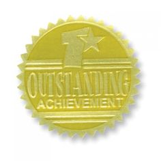 Outstanding Achievement Gold Foil Embossed Certificate Seals are a great addition to any award, certificate, or diploma. End of the year teaching supplies. Early Learning, Fun Learning, Classroom Incentives, School Supply Store, Embossed Seal, Teaching Supplies, School Supplies, Award Certificates, Thing 1
