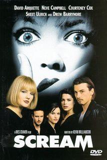 Scream (1996) cast: Skeet Ulrich, Neve Campbell, Matthew Lillard, Courteney Cox, David Arquette, Drew Barrymore