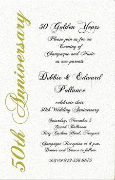 50 anniversary invitations | 50th anniversary previous in anniversary invitations next in ...