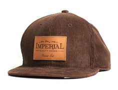 Arnold Corduroy Strapback Cap by IMPERIAL MOTION