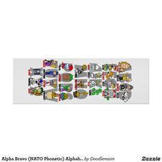Alpha Bravo (NATO Phonetic) Alphabet poster