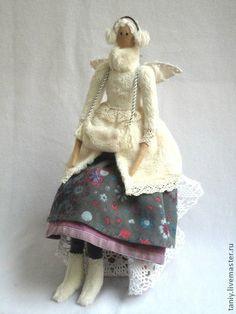 Куклы Тильды ручной работы. Ярмарка Мастеров - ручная работа Тильда-ангел по мотивам ангела из зимней коллекции. Handmade.