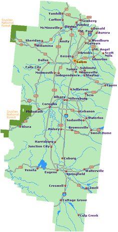 Willamette valley map