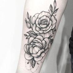 floral tattoo peony. Anna bravo