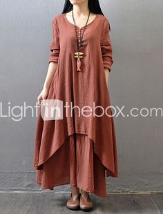 dress robe on sale at reasonable prices, buy 2016 Women mori girl cotton linen vintage dress long sleeve women elegant fake two piece dress fashion long dresses robe femme from mobile site on Aliexpress Now! Yellow Dress Casual, Casual Dresses, Ladies Dresses, Green Dress, Long Sleeve Maxi, Maxi Dress With Sleeves, Sleeve Dresses, Shirt Dress, Collar Dress
