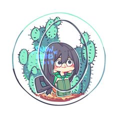 cactus terrarium bnha buttons design! i will put... / fly fly away