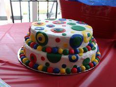 Primary colors birthday cake  Jr's 1st Birthday MIMI's 1st Birthday Cake
