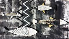 Fishes on wood Gonzalo Mandian Ibiza