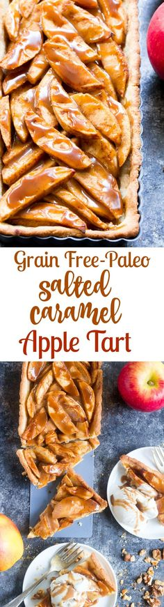 This gorgeous salted caramel apple tart is an irre…