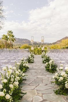 With a beautiful desert backdrop, this stunning outdoor wedding was an incredible event with a romantic pink & gold color scheme. Click through to see this unforgettable celebration on PartySlate. Wedding Themes, Wedding Colors, West Los Angeles, Gold Color Scheme, Paradise Valley, Pink And Gold, Destination Wedding, Backdrops, Dream Wedding
