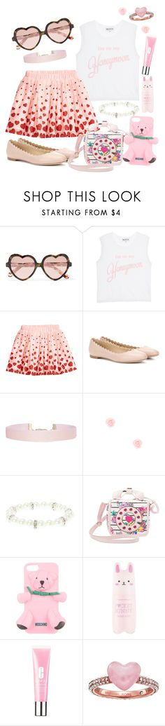 """""""I'm on my honeymoon"""" by grace-buerklin ❤ liked on Polyvore featuring Cutler and Gross, Wildfox, H&M, Chloé, Humble Chic, claire's, Betsey Johnson, Moschino, Tony Moly and Clinique"""