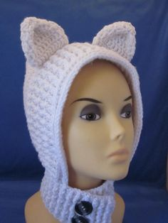 Wrap Neck Warmer Girls Cowl Hooded Cowl/Scarf  by MagicalStrings