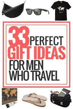 33 Perfect Gift Ideas For Men Who Love Travelling Looking for some awesome gift ideas for those men in your life who love traveling! Read my gift guide for tons of fun, . Unique Gifts For Men, Creative Gifts, Best Travel Gifts, Presents For Him, Valentines Gifts For Him, Practical Gifts, Gifts For Husband, Boyfriend Gifts, Gift Guide
