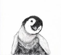 Baby animal print for nursery  Penguin digital download